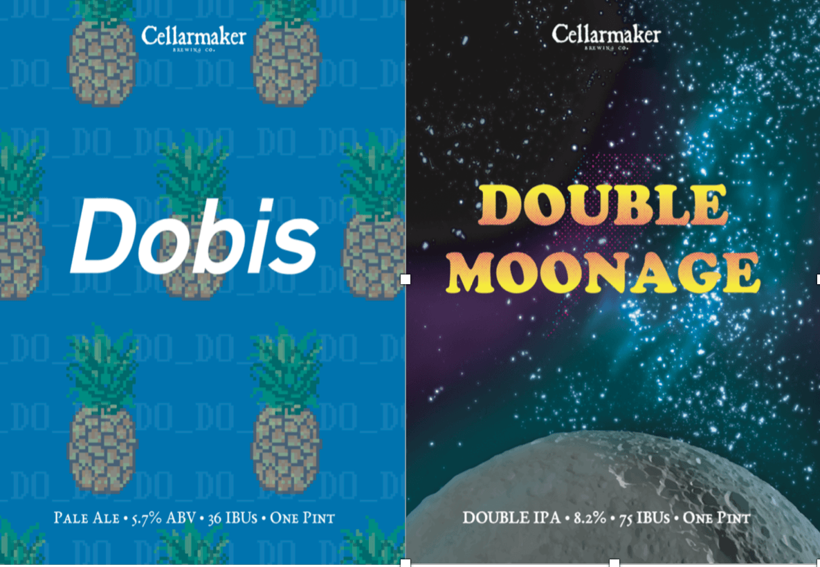 Dobis & Double Moonage Cans ~ Sold Out