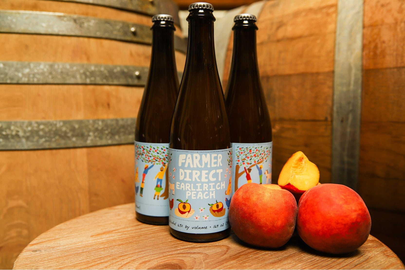 Farmer Direct: Earlirich Peach Bottles ~ Sold Out