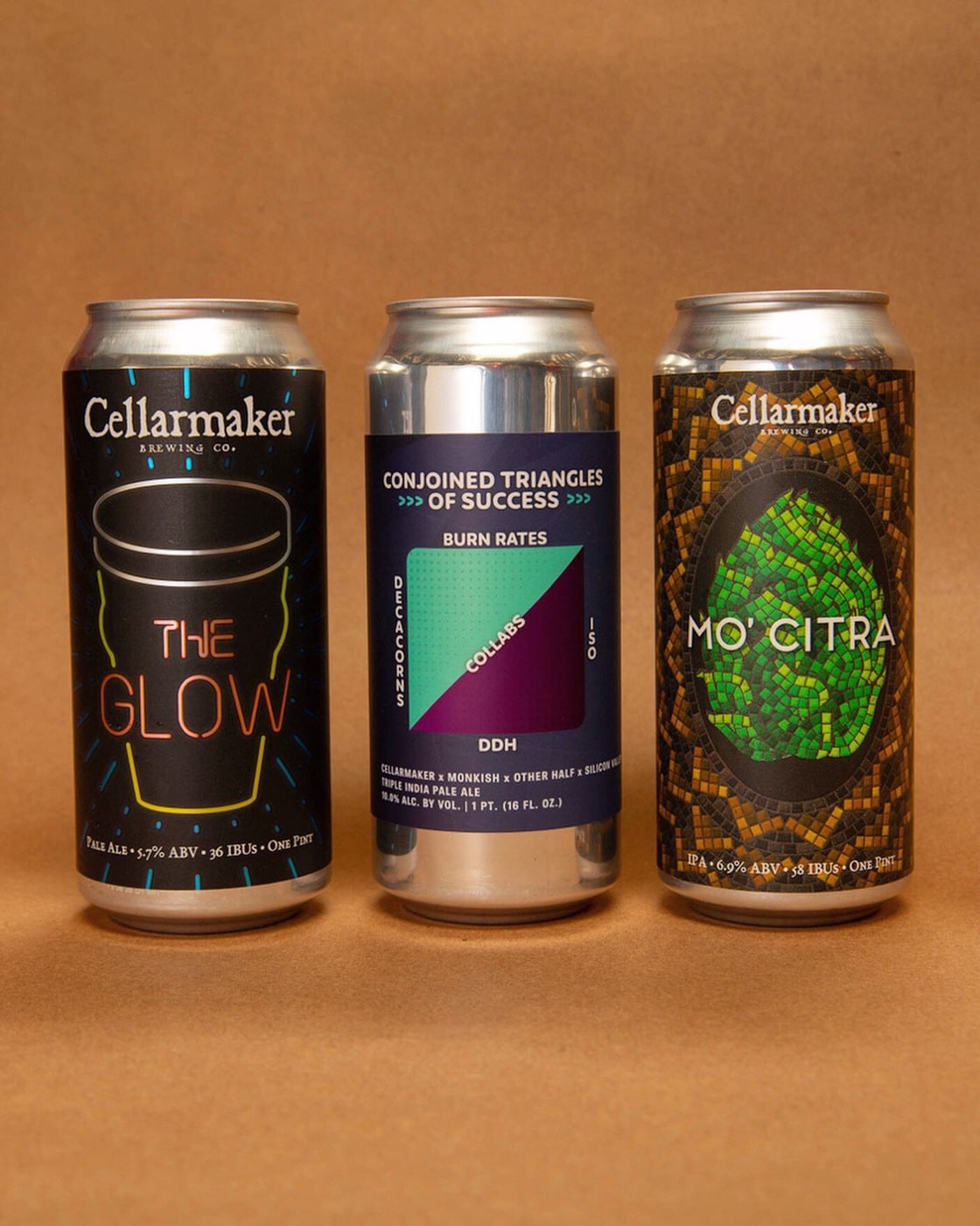 """The Glow"", ""Mo' Citra"" & ""Triangles"" CANS ~ SOLD OUT"