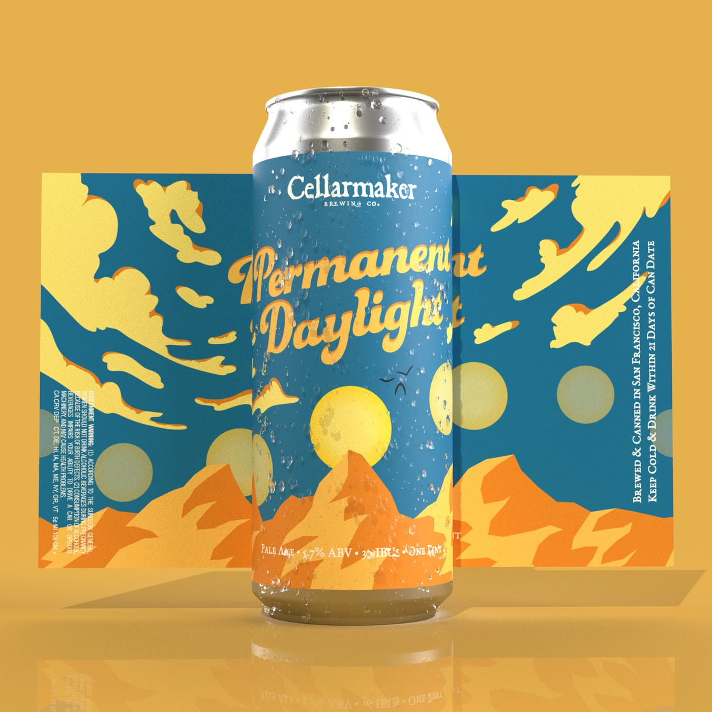"""24 Cans Of """"Permanent Daylight"""" IPA ~ Shipping Monday 4/6"""