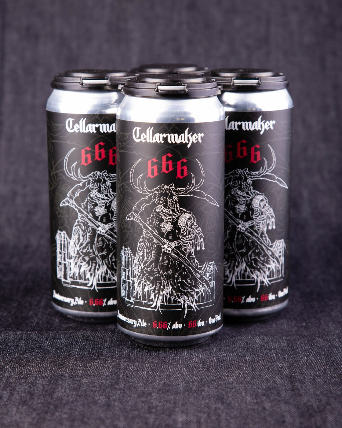 """24 CANS  ~ Satan's Cut ~ 24 """"666"""" IPA ~ SHIPPING WEDNESDAY 6/3"""