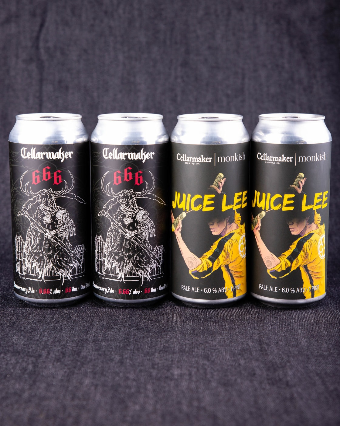 """24 CANS  ~ No DIPAs Allowed ~ 16 """"666"""" IPA & 8 """"Juice Lee"""" Pale Ale ~ SHIPPING WEDNESDAY 6/3"""