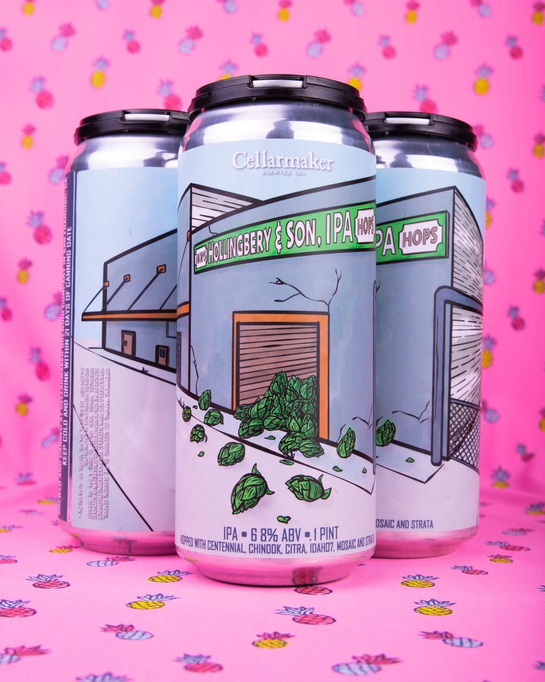"""New IPA """"Hollingbery & Son"""", """"DDH Board Of Crustees"""" IPA & New Pale Ale """"Pineapple Peak"""" CANS ~ Available"""