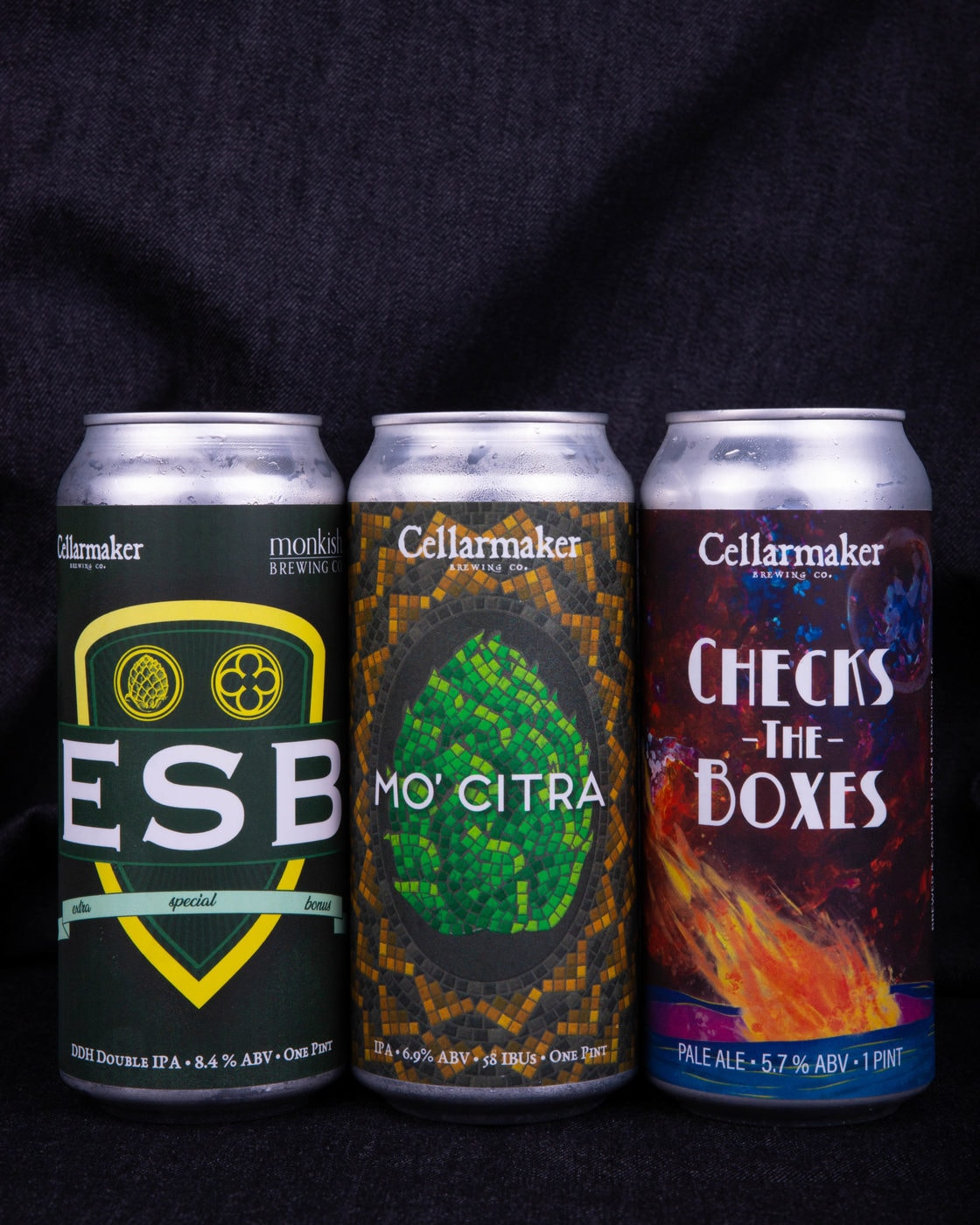 """ESB"" DIPA Collab With Monkish, ""Mo' Citra"" IPA & ""Check The Boxes"" Pale Ale ~ AVAILABLE"