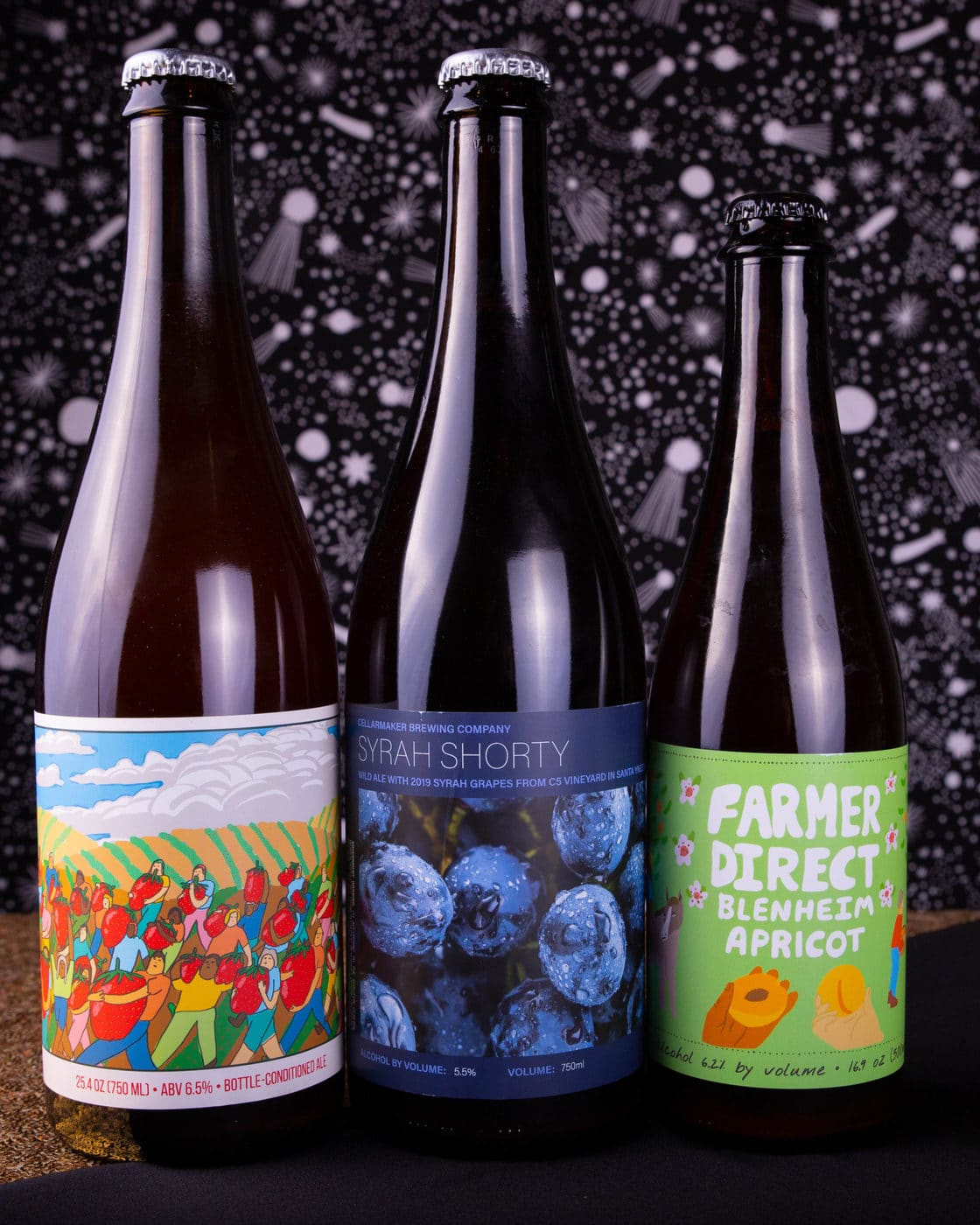Fruity Dranks ~ 3 Bottle Case ~ Strawberry Oblivion, Syrah Shorty & Farmer Direct: Blenheim Apricot ~ Shipping Out Wednesday 12/2 For Next Day Delivery*