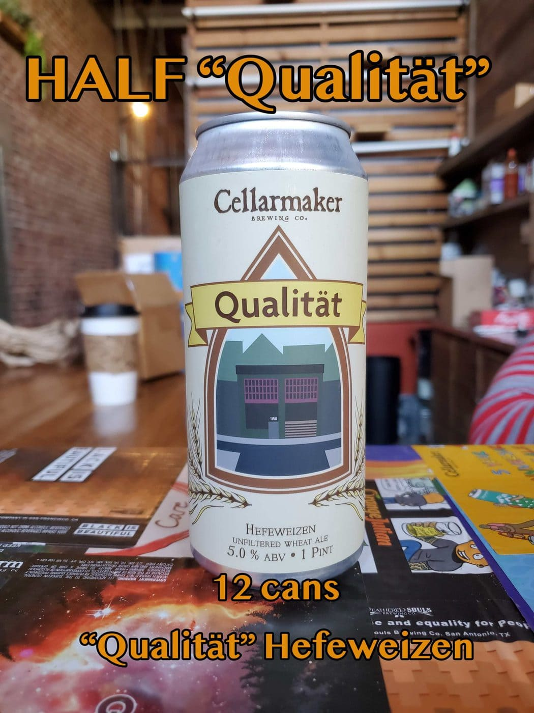 "HALF CASE 12 CANS ""Qualität"" Hefeweizen… SHIPPING Out On Wednesday 12/2 For NEXT DAY Delivery*"