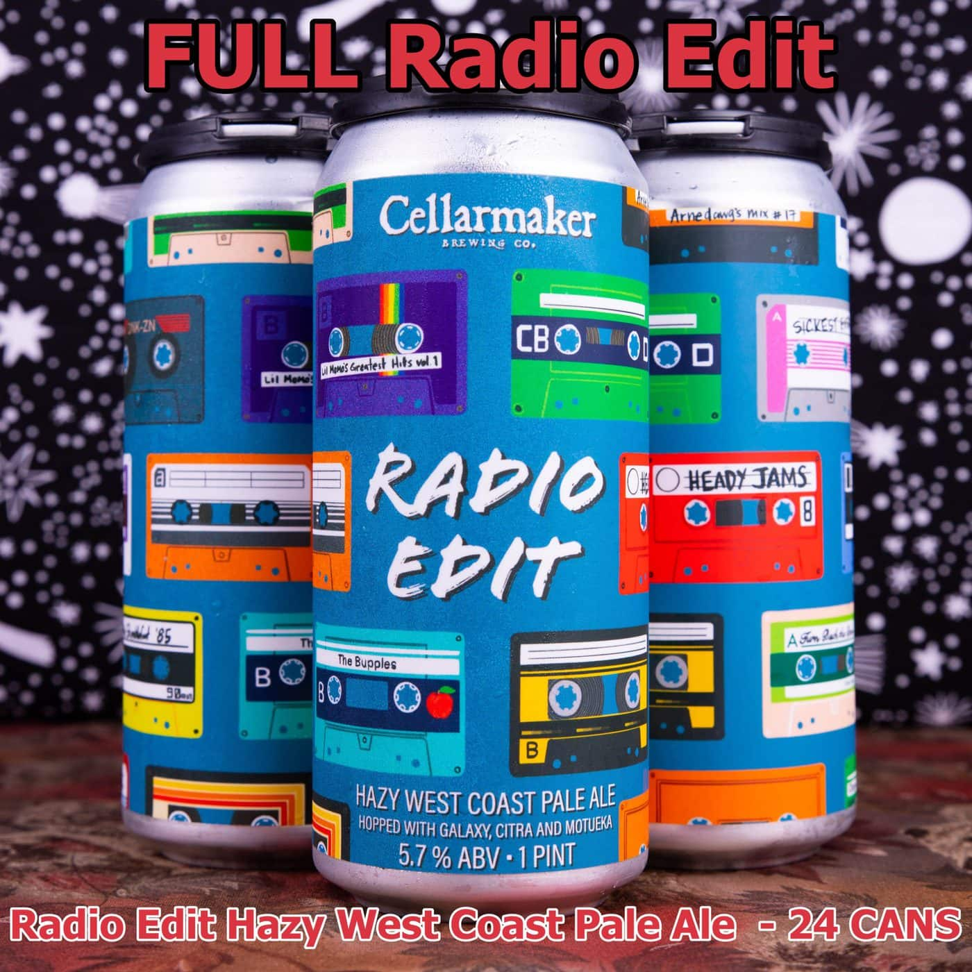 FULL CASE 24 CANS Radio Edit Pale Ale ~ Shipping Out For Next Day Delivery On Tuesday 1/19*