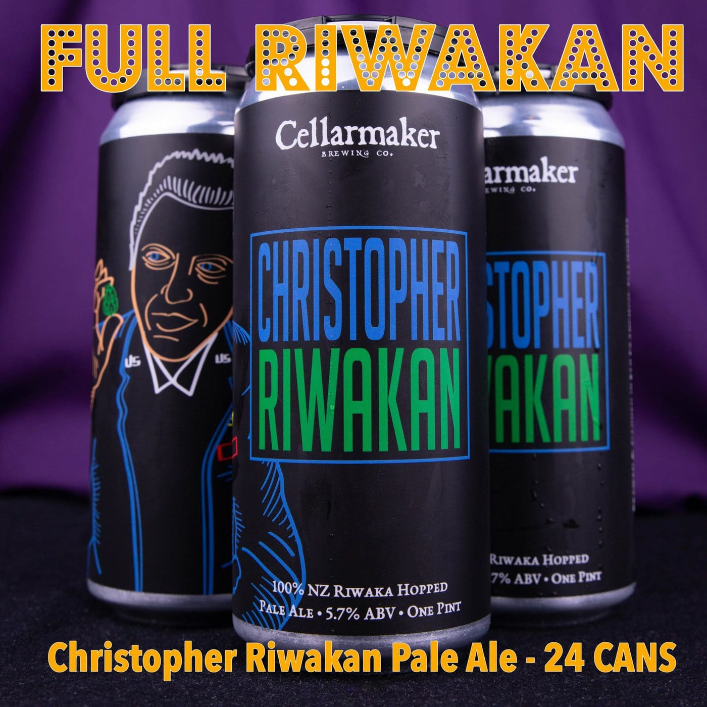 FULL CASE 24 CANS Christopher Riwakan Pale Ale … SHIPPING Out On TUESDAY 1/12 For NEXT DAY Delivery*