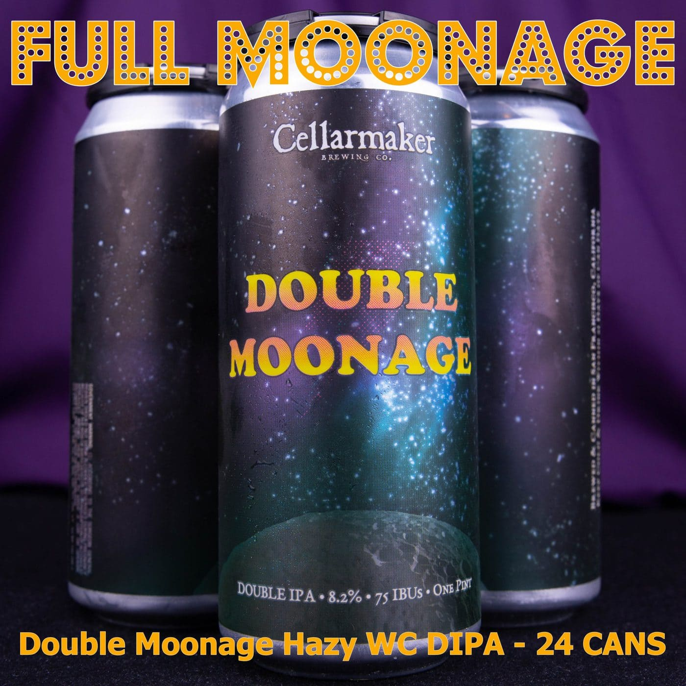 FULL CASE 24 CANS Double Moonage DIPA … SHIPPING Out On TUESDAY 1/12 For NEXT DAY Delivery*