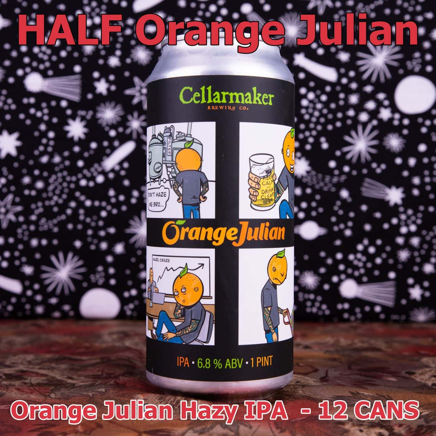 HALF CASE 12 CANS Orange Julian IPA ~ Shipping Out For Next Day Delivery On Tuesday 1/19*