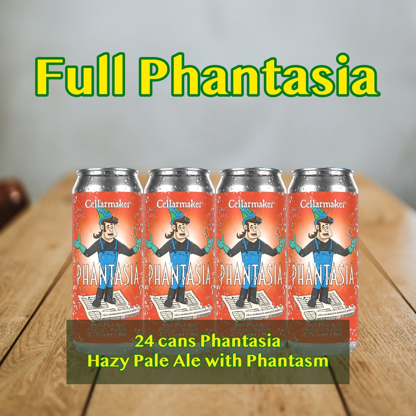 FULL CASE 24 CANS Phantasia New Hazy Pale Ale-  Shipping Out Tuesday 3/2 For Next Day Delivery*