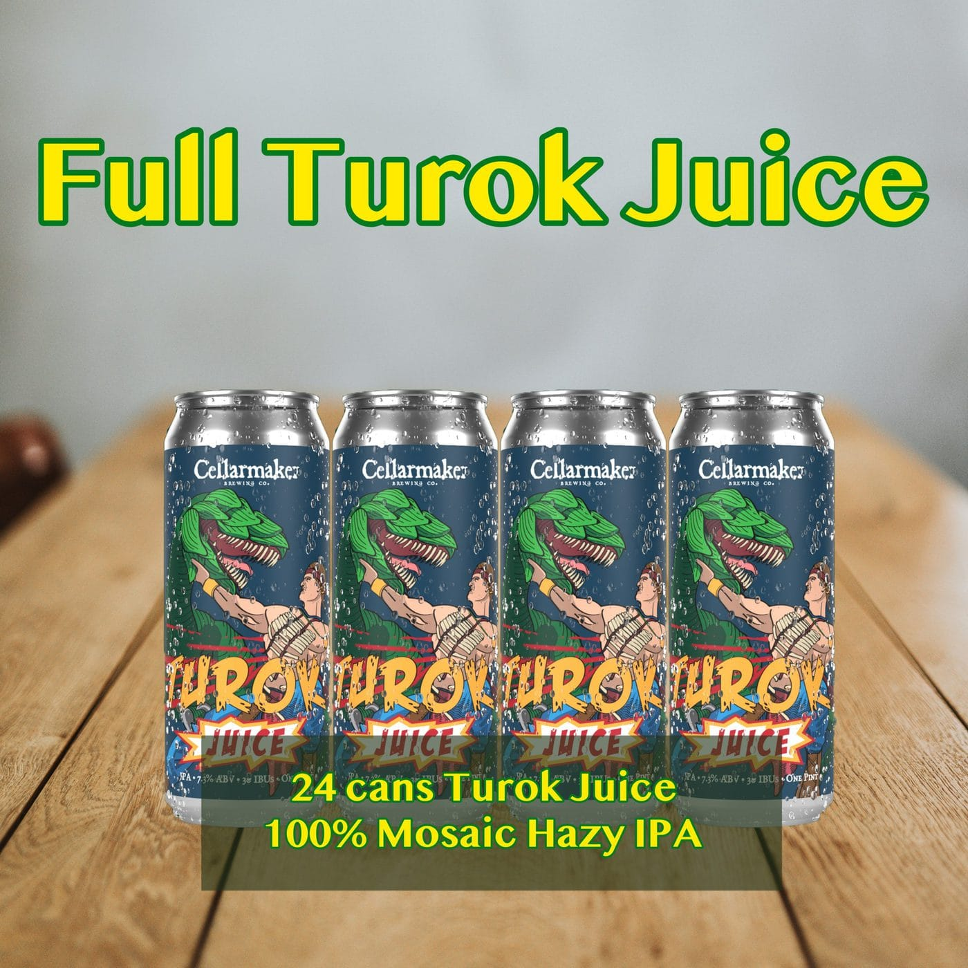 FULL CASE 24 CANS Turok Juice Hazy IPA – Shipping Out Tuesday 3/2 For Next Day Delivery*