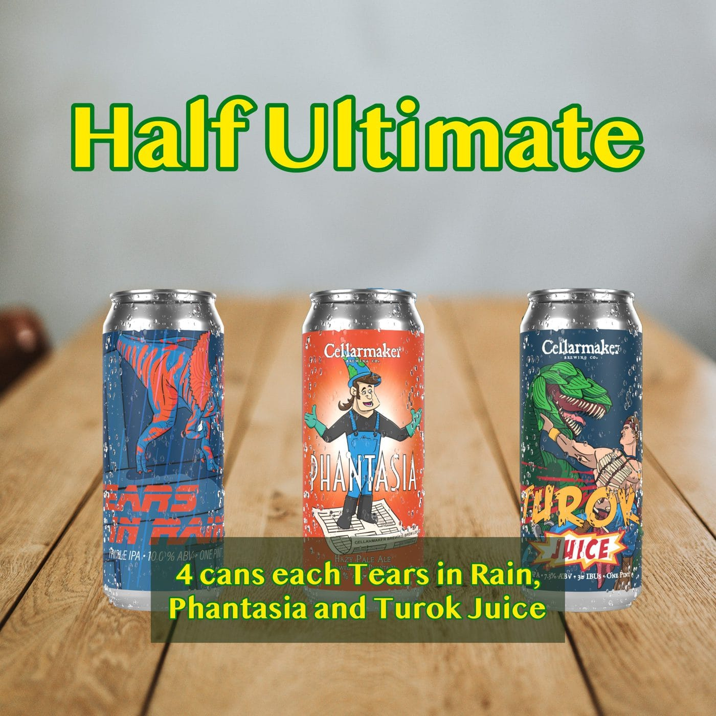 HALF CASE 12 CANS Half Ultimate MIX – 4 Tears In Rain HAZY TIPA, 4 Phantasia New Hazy Pale Ale And 4 Turok Juice Hazy IPA – Shipping Out Tuesday 3/2 For Next Day Delivery*
