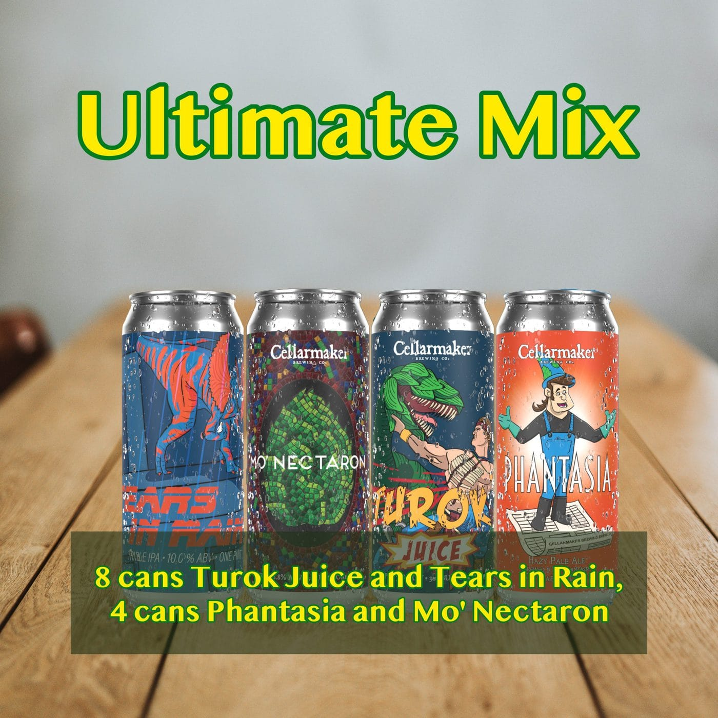 FULL CASE 24 CANS Ultimate MIX – 8 Tears In Rain HAZY TIPA, 4 Mo' Nectaron NEW HAZY IPA,  4 Phantasia New Hazy Pale Ale And 8 Turok Juice Hazy IPA – Shipping Out Tuesday 3/2 For Next Day Delivery*
