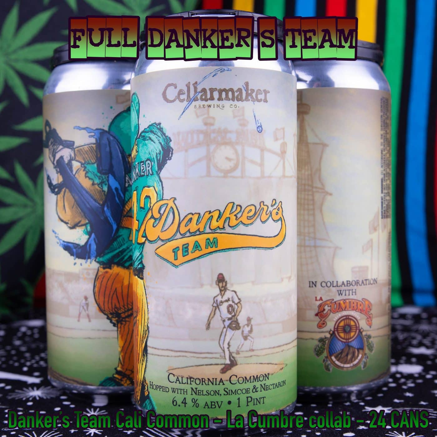FULL CASE 24 CANS Danker's Team Cali Common – La Cumbre Collab – Shipping Out Tuesday 4/13 For Next Day Delivery*
