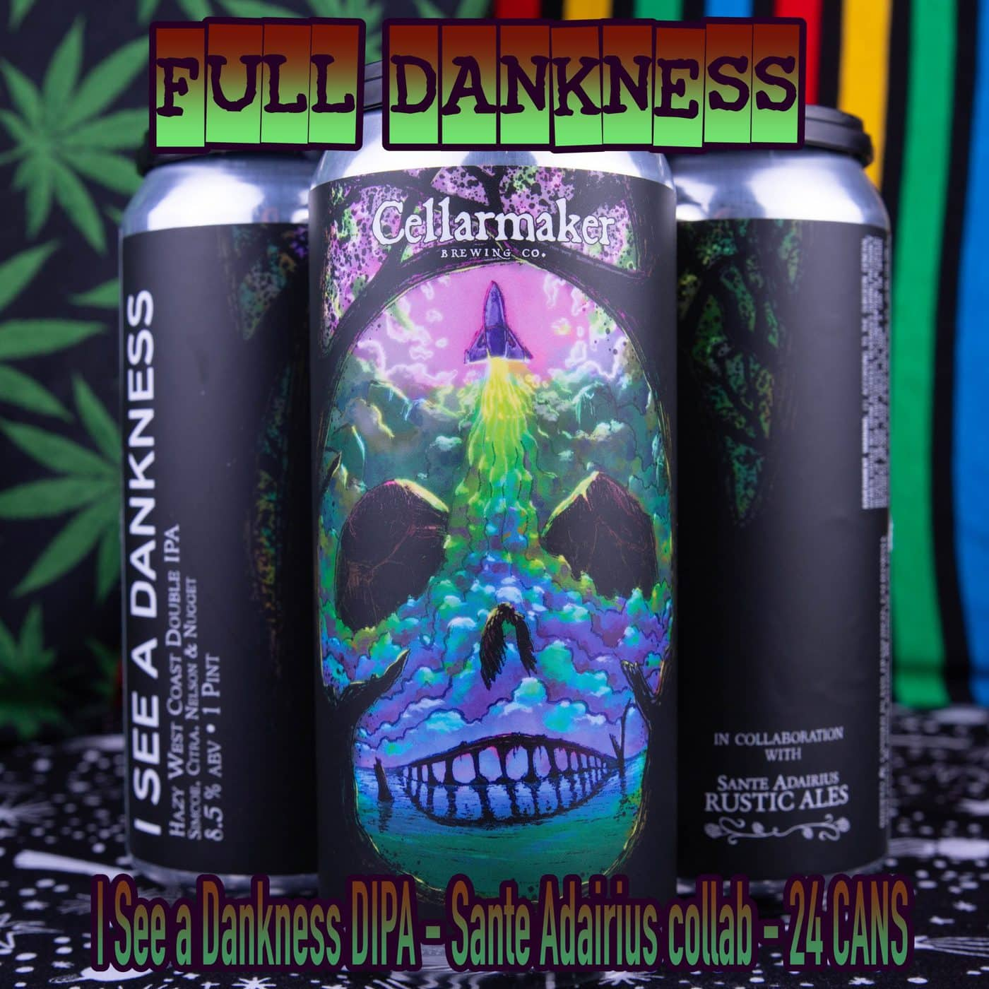 FULL CASE 24 CANS I See A Dankness DIPA – Sante Adairius Collab – Shipping Out Tuesday 4/13 For Next Day Delivery*