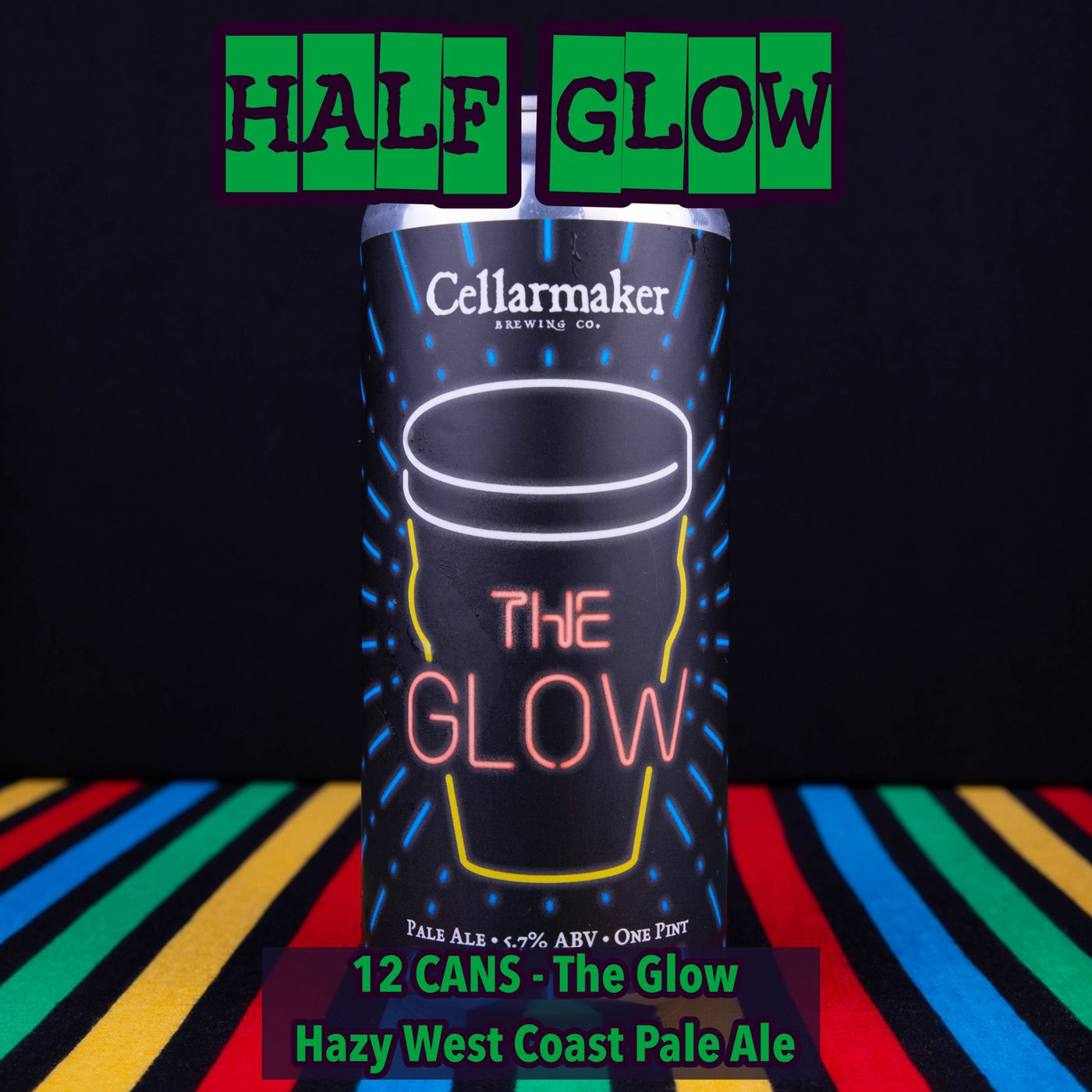 12 CANS The Glow – Hazy West Coast Pale Ale – Shipping Out Tuesday 5/4 For Next Day Delivery*