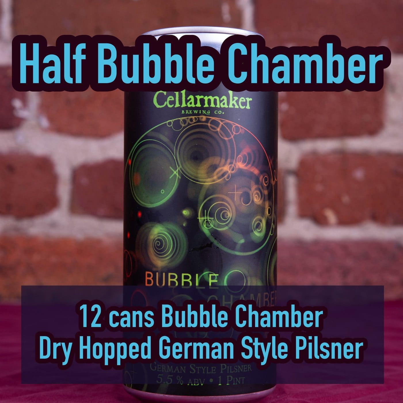 12 CANS Bubble Chamber Pilsner – Shipping Out Tuesday 4/20 For Next Day Delivery*
