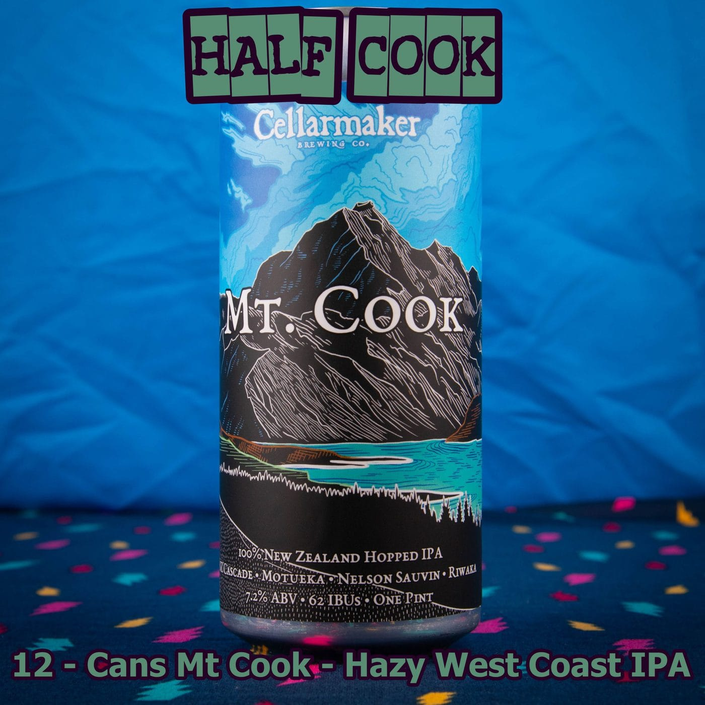 12 CANS Mt Cook IPA – Shipping Out Tuesday 5/11 For Next Day Delivery*