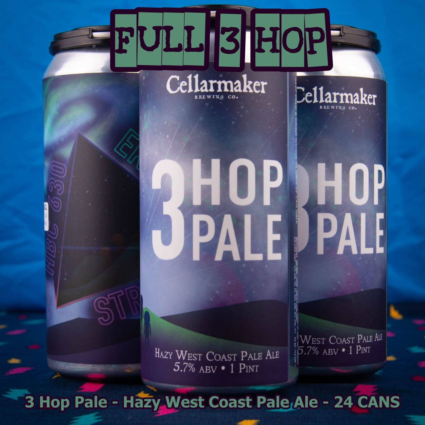 FULL CASE 24 CANS Three Hop Pale Ale – Shipping Out Tuesday 5/11 For Next Day Delivery*