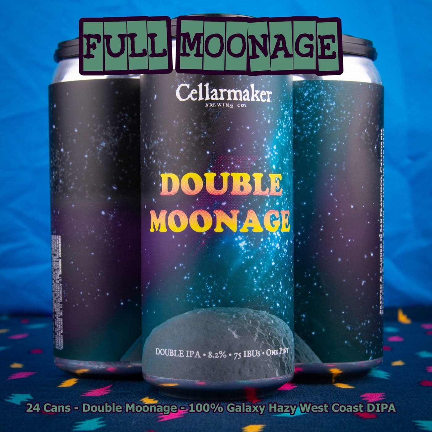 FULL CASE 24 CANS Double Moonage Hazy DIPA- Shipping Out Tuesday 5/11 For Next Day Delivery*