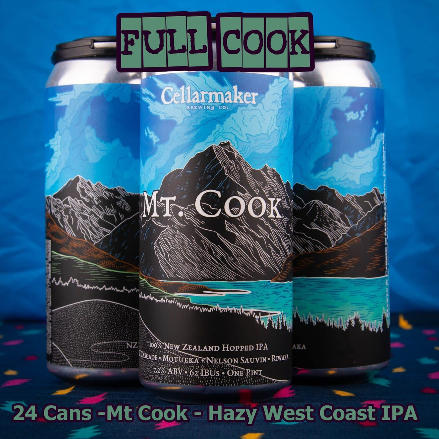 FULL CASE 24 CANS Mt Cook IPA- Shipping Out Tuesday 5/11 For Next Day Delivery*
