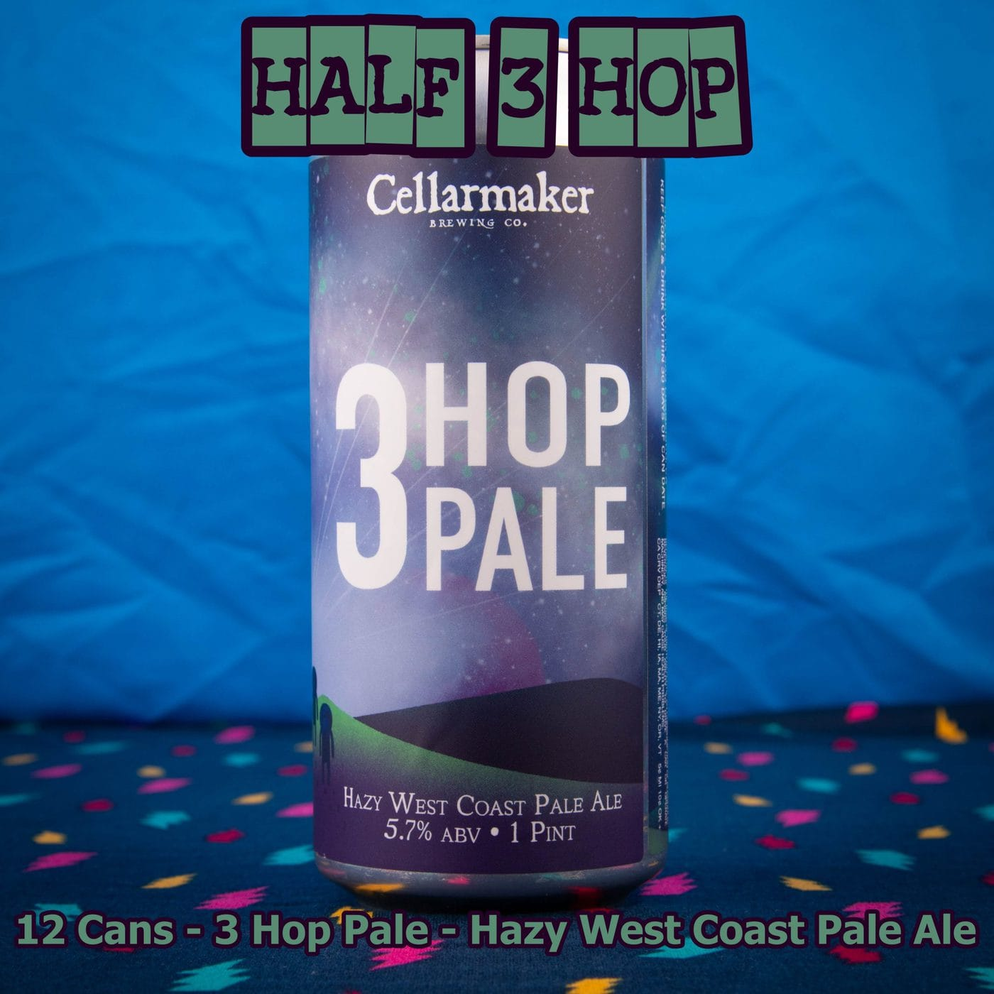 12 CANS Three Hop Pale Ale – Shipping Out Tuesday 5/11 For Next Day Delivery*