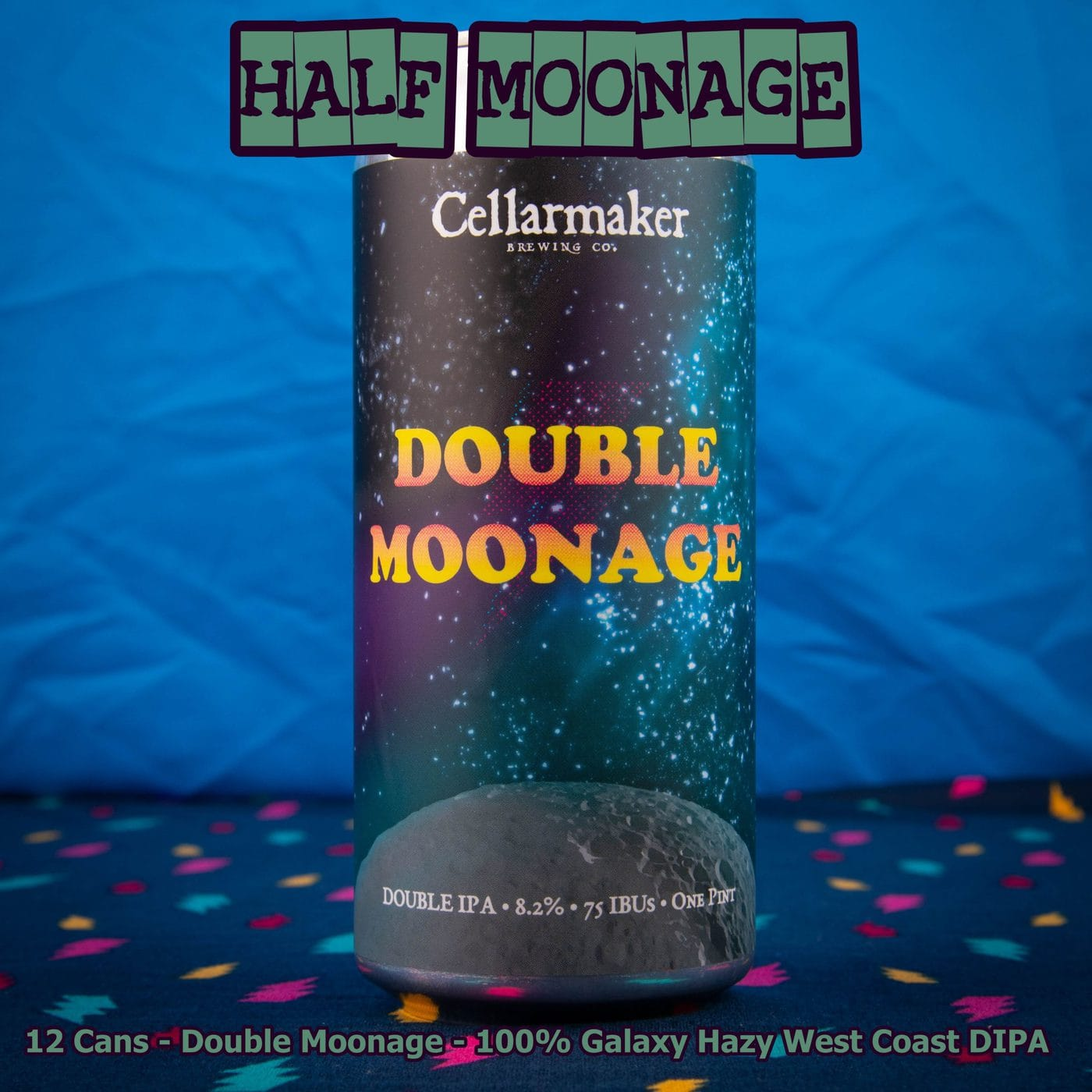 12 CANS Double Moonage Hazy DIPA – Shipping Out Tuesday 5/11 For Next Day Delivery*