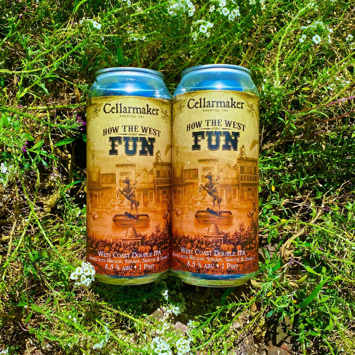 12 CANS How The West Was Fun DIPA – Shipping Out Tuesday 6/22 For Next Day Delivery*