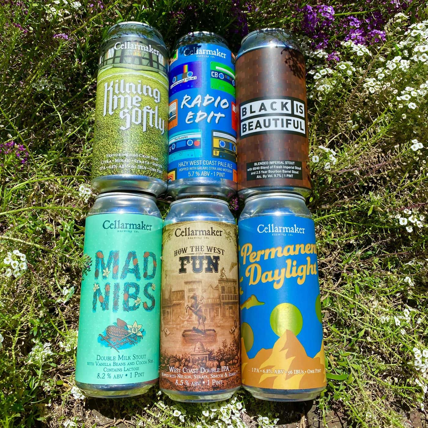FULL CASE 24 CANS 6 BEER MIX – 4 How The West Was Fun DIPA, 4 Permanent Daylight IPA, 4 Mad Nibs Double Milk Stout, 4 Black Is Beautiful Blended Imperial Stout, 4 Radio Edit Pale Ale And Kilning Me Softly IPA- Shipping Out Tuesday 6/22 For Next Day Delivery*