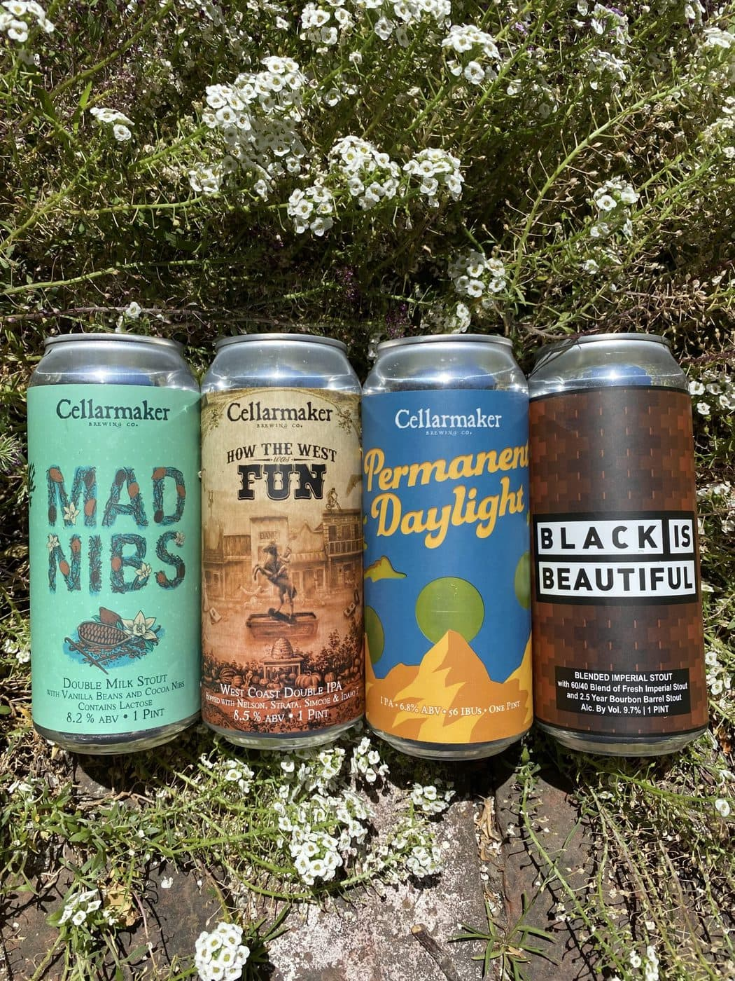 16 CANS – 4X4 MIX – 4 How The West Was Fun DIPA, 4 Permanent Daylight IPA, 4 Black Is Beautiful Blended Imperial Stout And 4 Mad Nibs Double Milk Stout  – Shipping Out Tuesday 6/22 For Next Day Delivery*