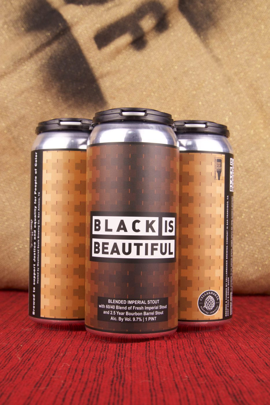"""""""Black Is Beautiful"""" Blended Stout 4pk"""