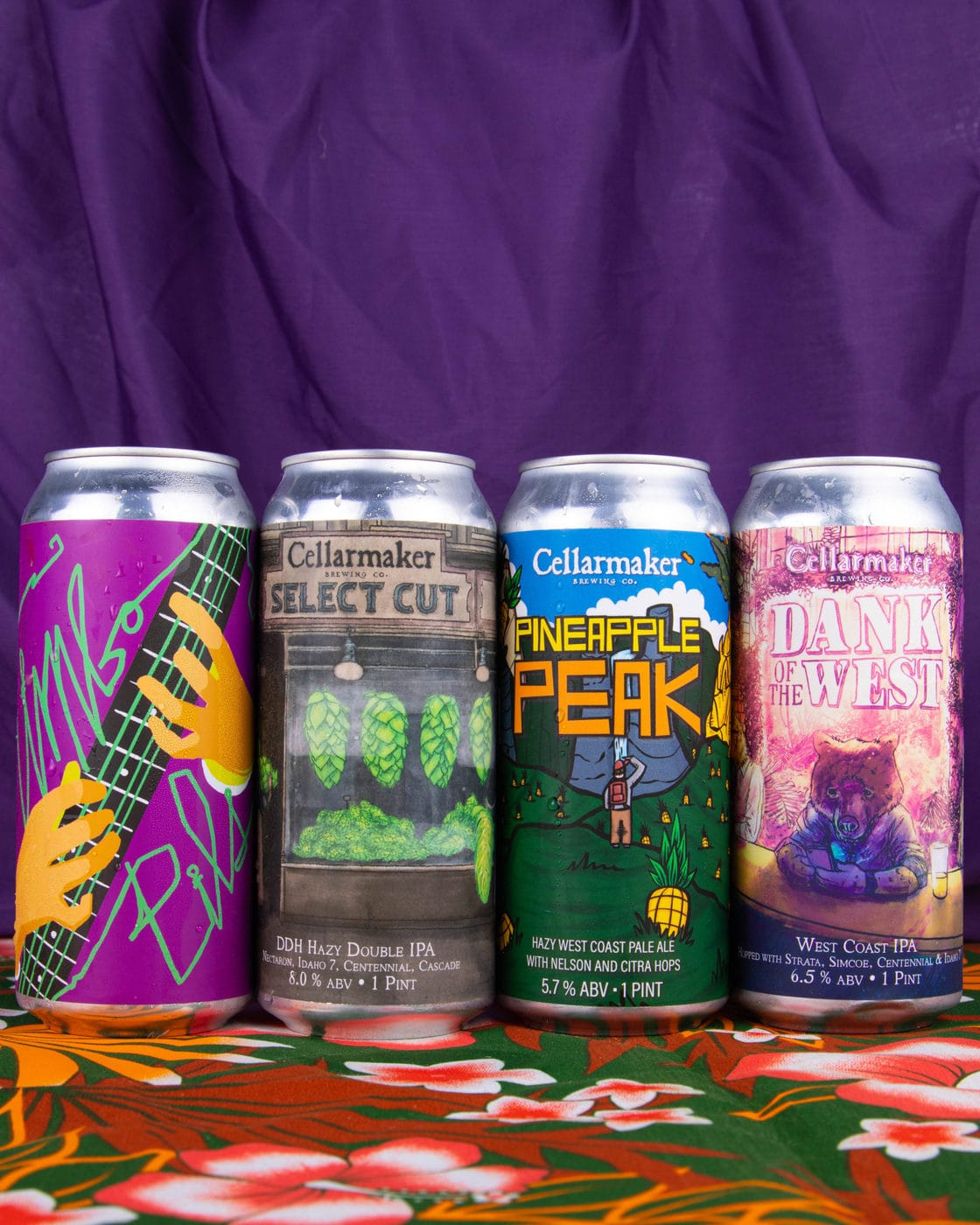 16 CANS 4×4 MIX – 4 Simcoe Galaxy IPA, 4 Dobis Pale Ale, 4 Juice Kiosk And 4 Wicked Juicy IPA  – Shipping Out Wednesday 7/28 For Next Day Delivery*