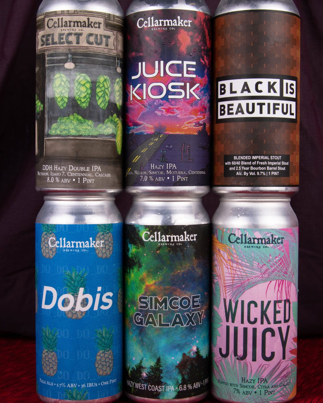 FULL CASE 24 CANS 6 BEER MIX – 4 Simcoe Galaxy IPA, 4 Dobis Pale Ale, 4 Juice Kiosk, 4 Select Cut DIPA, 4 Wicked Juicy IPA And 4 Black Is Beautiful Blended Stout – Shipping Out Wednesday 7/28 For Next Day Delivery*